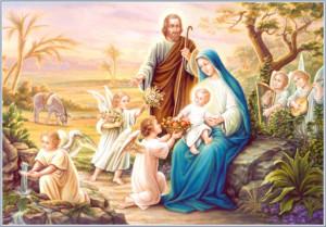 Angels serving little Jesus - 92.1 kB