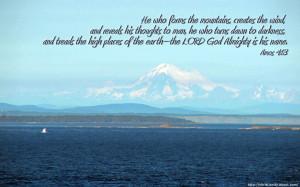 Amos 4:13 – God Almighty Papel de Parede Imagem