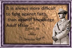 Adolf Hitler Quotes Faith...