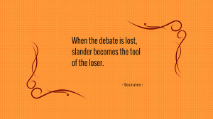 When the debate is lost... quote wallpaper