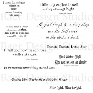 QUOTES for Bedtime, Night time, Morning time- Digital Word Art for ...