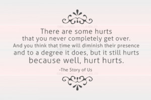there are some hurts that you never completely get over. and you think ...