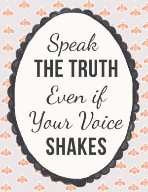 Speak Truth – Free Printable