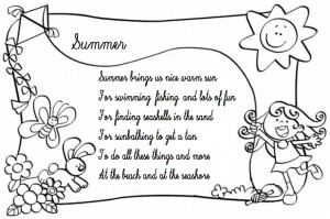 Acrostic poem using the letters in this word: SUMMER