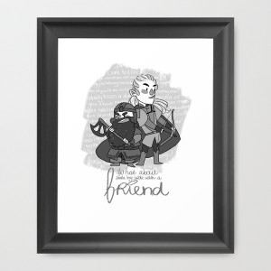 Legolas and Gimli quote Framed Art Print