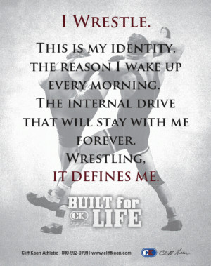 Once you've wrestled, everything else in life is easy. Dan Gable