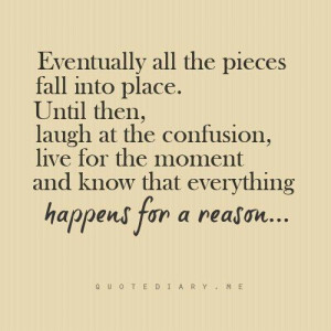 happens for a reason....
