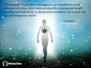 Marijuana Quote by Carl Sagan