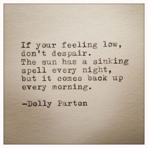 Dolly Parton Quote Typed on Typewriter by farmnflea on Etsy