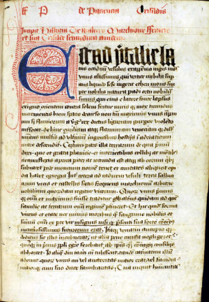Beginning of text (folio 1r)