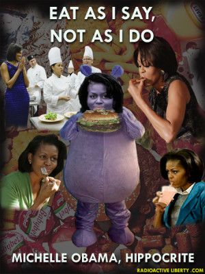 Gluttonous Hypocrite Michelle Obama Makes Mama Cass Look Like a Piker