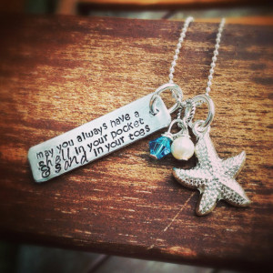 Ocean Lovers Sea Star Quote Necklace