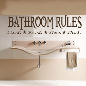 Decorate Bathroom with Unique Wall Decorations