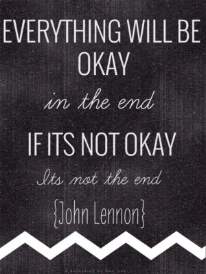 its not the end quote