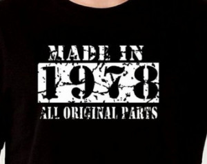 Made In 1978 37th Birthday Gift Pre sent T Shirt T-Shirt Tshirt Age 37 ...