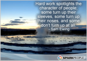 Motivational Quote - Hard work spotlights the character of people ...