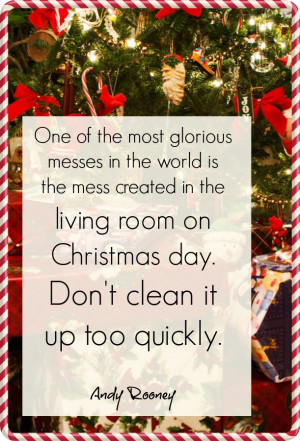 dont clean up christmas day quote