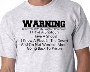 Great Gift From Daughter- Dads Warn ing S-5XL Fast Shipping TG200153 ...