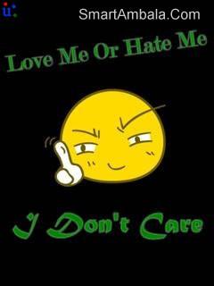 Love Me Hate Me,I Don't Care ~ Attitude Quote