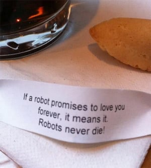 Robots love you forever