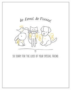 Thinking Of You Quotes Sympathy Pet sympathy card pet