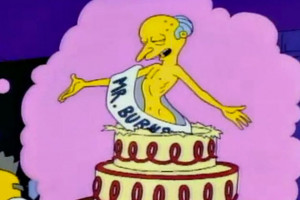 Mr. Burns Birthday Cake