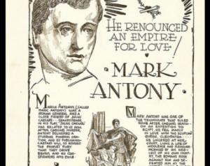 Mark Antony (Marcus Antonius) - Roman Politician and General, friend ...