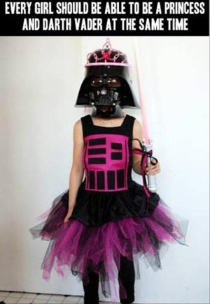 funny pictures darth vader princess