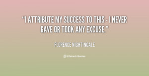 Florence Nightingale Quote Success