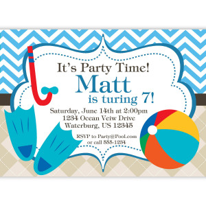 Pool Party Invitation Quotes