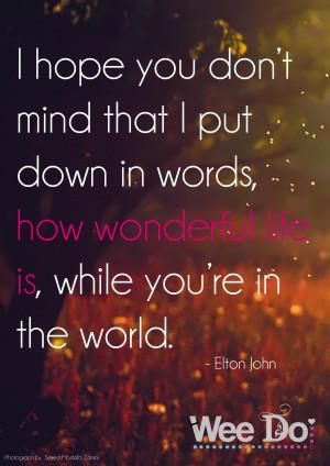 Elton John Love quote