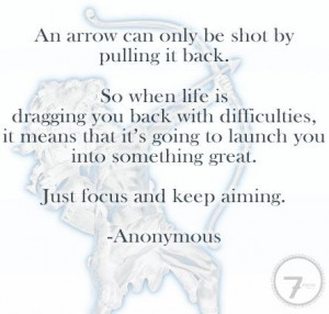 Just focus and keep aiming...