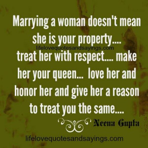 Treat Your Woman With Respect Quotes