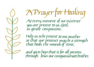 Prayer for Healing Note Card