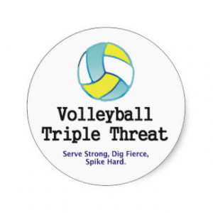 TOP Volleyball Triple Threat Stickers