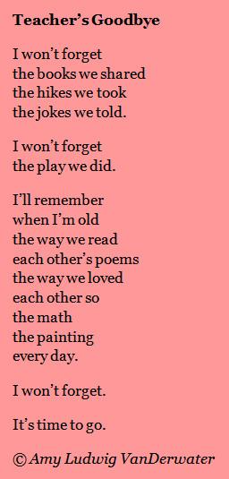 Goodbyes and Kindergarten Poems
