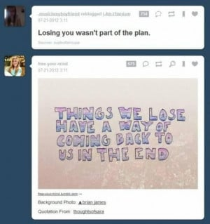 Quotes lost love coming back