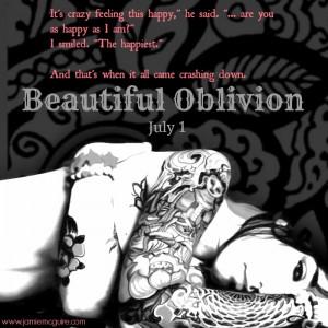 Sinopse de Beautiful Oblivion, de Jamie McGuire