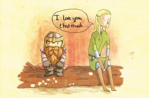 love cute Elf movies My art the hobbit LOTR gimli Valentine legolas ...