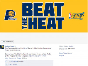 Indiana Pacers - BeatTheHeat Facebook Cover