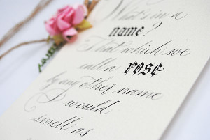 Calligraphy quotes: What's in a name?