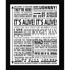 Horror movie quotes. #Hitchcock #Psycho #Jaws #Frankenstein #Dracula # ...