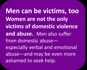 Domestic Violence. Against Men?