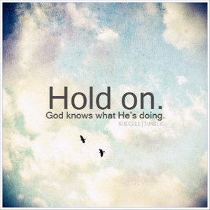 hold on quote