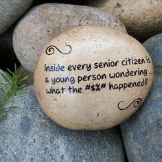 Senior Citizen Humor. Message Stone. Fun Humor by holidayhijinks, $15 ...