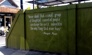 Margaret Mead Quote Never Doubt Small Group Red