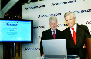 Eckhard Pfeiffer and Bill Clinton launch Accoona.com search engine