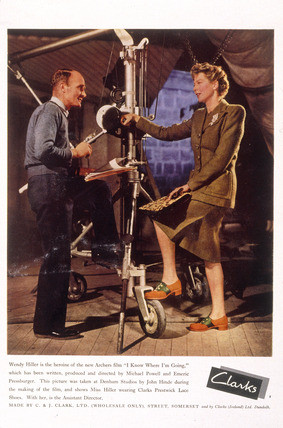 Wendy Hiller advertising Clarks shoes Second World War 1945