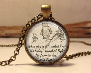Winnie the Pooh quote necklace. inspirational quote. jewelry necklace ...