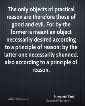 The only objects of practical reason are therefore those of good and ...